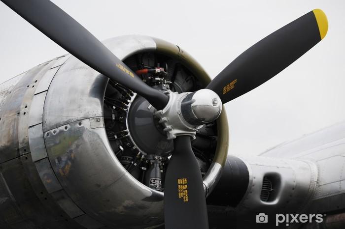 Pixerstick Sticker Bommenwerper vliegtuigmotor - Thema's