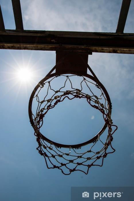 Vinyl-Fototapete Basketballkorb und Netz - Basketball