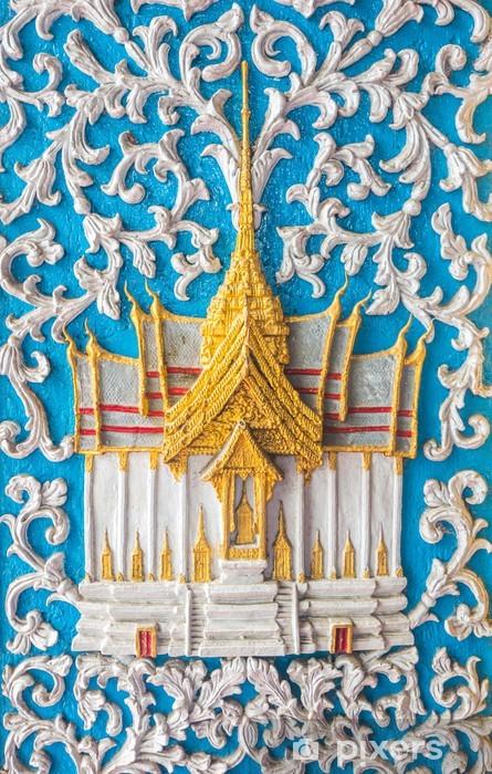 Vinylová fototapeta Dveře umění na chrámu v Thajsku - Vinylová fototapeta