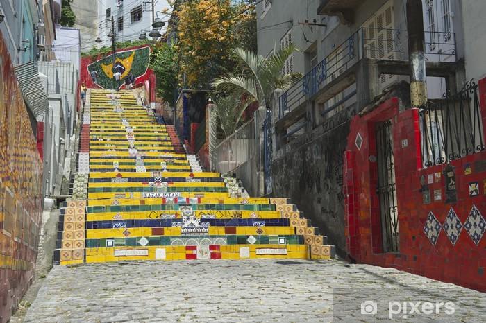 Fotomural Estándar Escadaria Selaron los pasos Río de Janeiro Brasil - Brasil
