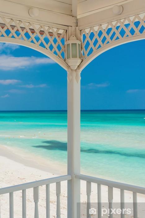 Fototapeta winylowa Widok varadero plaży na Kubie z pięknym tarasem - Ameryka