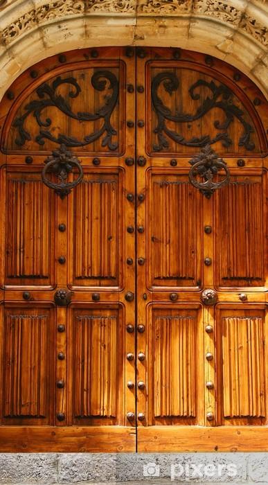 Pixerstick Aufkleber Tür Detail der Palau de Mar i Cel in Sitges, Barcelona - Texturen