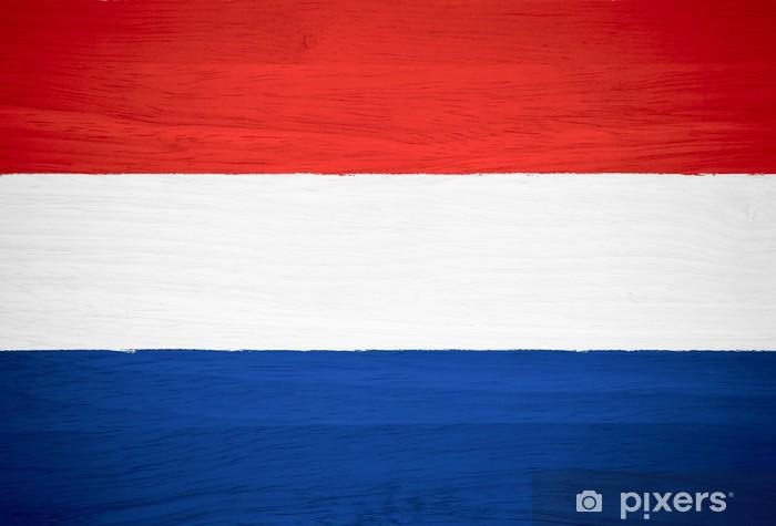 Adesivo Bandiera Olandese Su Struttura Di Legno Pixers Viviamo