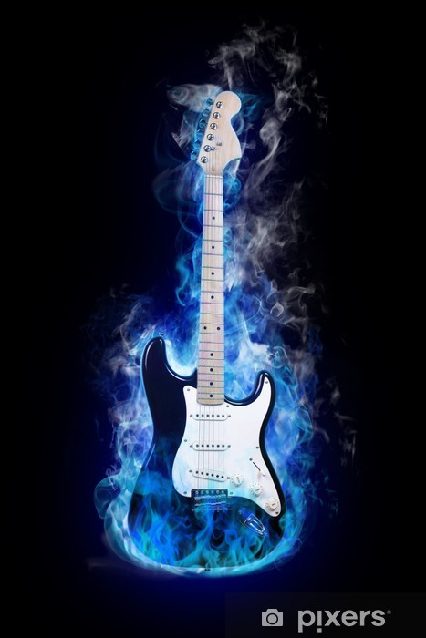 electric guitar Pixerstick Sticker - Jazz