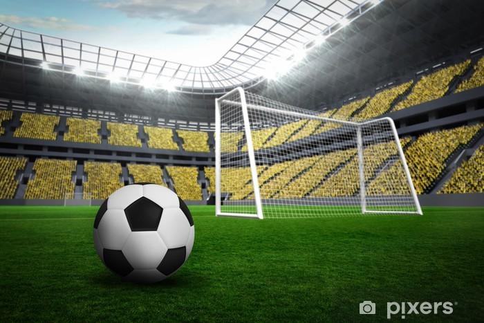 Fototapeta winylowa Czarne i białe skórzane piłki nożnej - Mecze i zawody