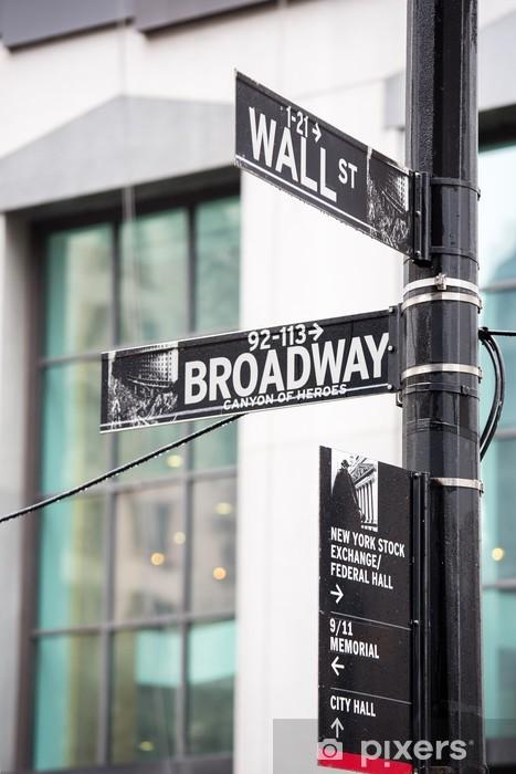 Fotomural Estándar Wall street - Ciudades norteamericanas