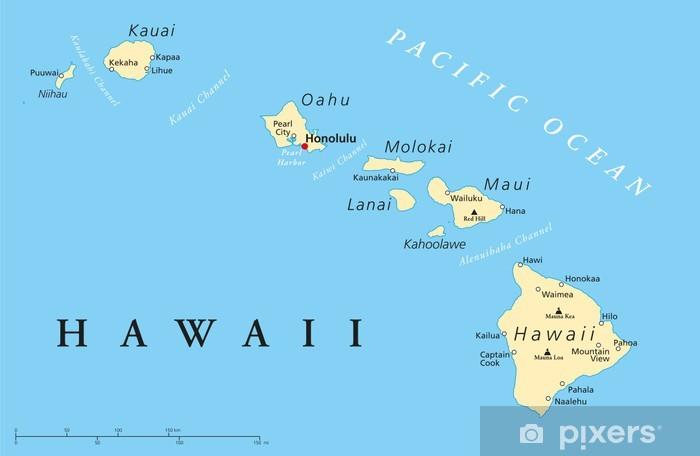 Fototapeta Havajske Ostrovy Politicka Mapa Pixers Zijeme Pro
