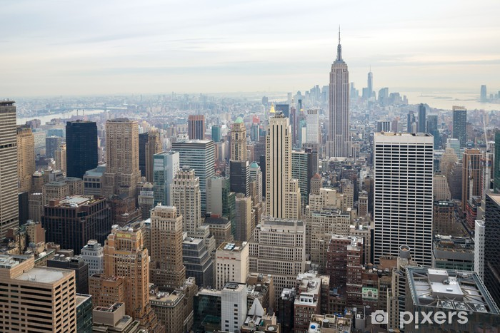 Vinyl Fotobehang New York City Skyline - Thema's