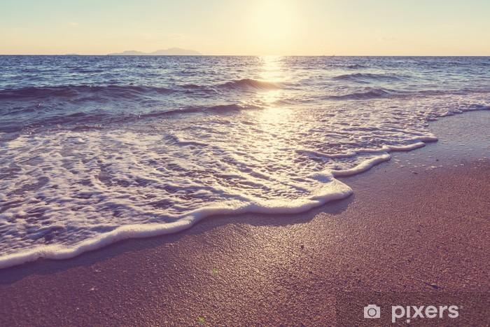Fototapeta winylowa Morze zachód słońca - Tematy