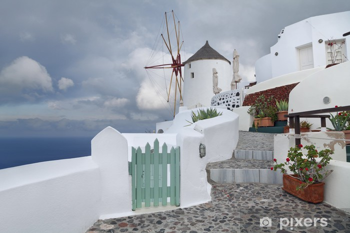Nálepka Pixerstick Santoriny - Evropa