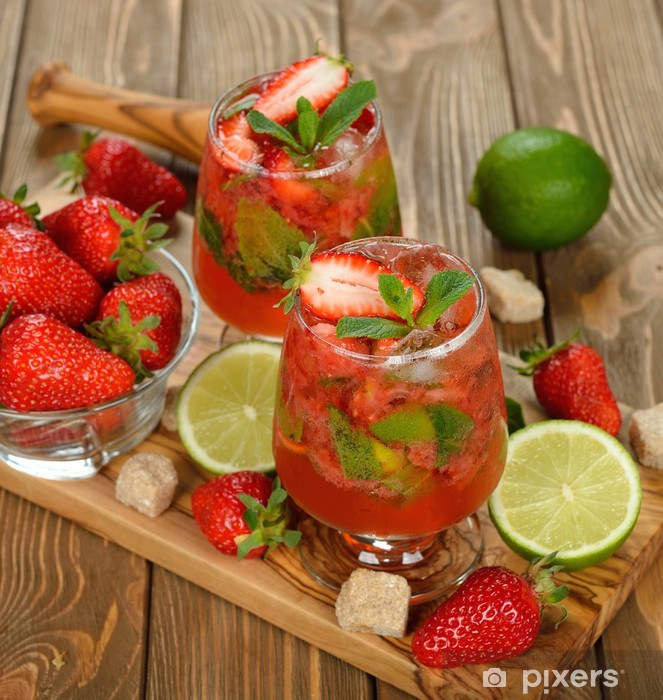 Naklejka Pixerstick Strawberry mojito - Alkohol