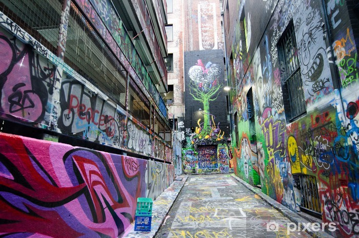 Hosier Lane - Melbourne Pixerstick Sticker - Themes