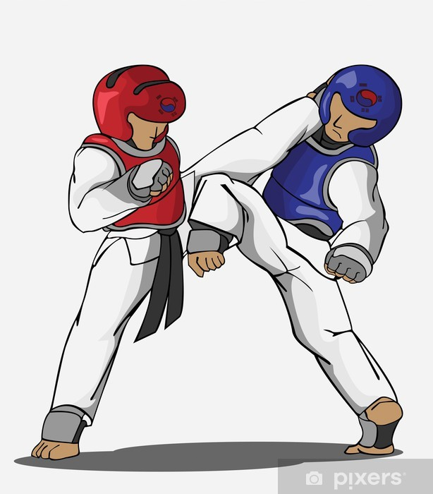 Sticker Pixerstick Taekwondo art martial - Sports extrêmes