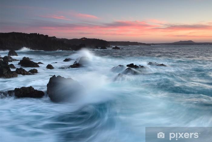 Fototapeta winylowa Plaże na Lanzarote - Woda
