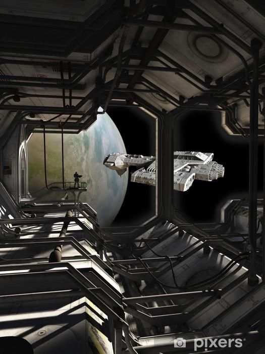 Papier peint vinyle Spaceship Laissant les Docks - Temps