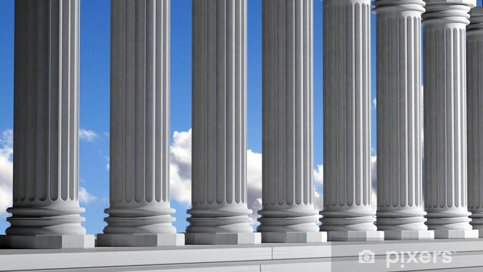 Fototapeta winylowa Starożytne marmurowe filary w wierszu z nieba - Tematy