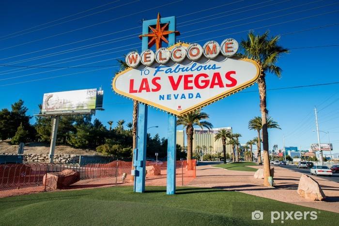Vinilo Pixerstick Famoso signo de Las Vegas en brillante día soleado - Las Vegas