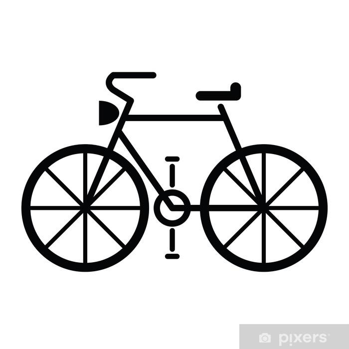 Aufkleber Fahrrad Symbol Vektor Pixerstick