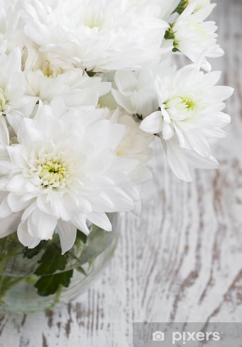 Fototapeta winylowa Białe chryzantemy - Pory roku