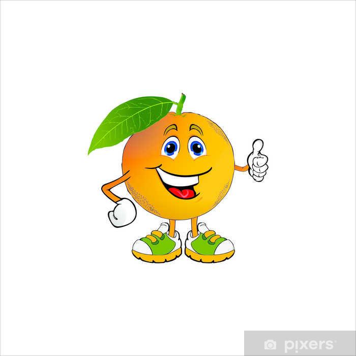 Naklejka Animowane pomarańczowy • Pixers® - Żyjemy by zmieniać