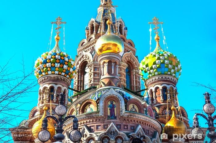 Pixerstick Aufkleber Kuppel der Kirche des Erlösers auf Blut, Sankt Petersburg - Asien