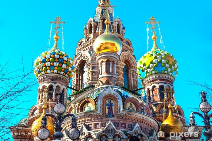 Cupola of the Church of the Savior on Blood, St Petersburg Pixerstick Sticker - Asia