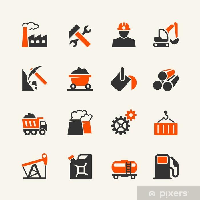 Plakát Průmyslové web sadu ikon - Těžký průmysl