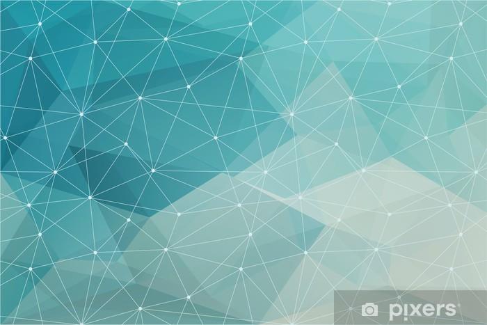 Fotomural Lavable Resumen de antecedentes poligonal, vector -