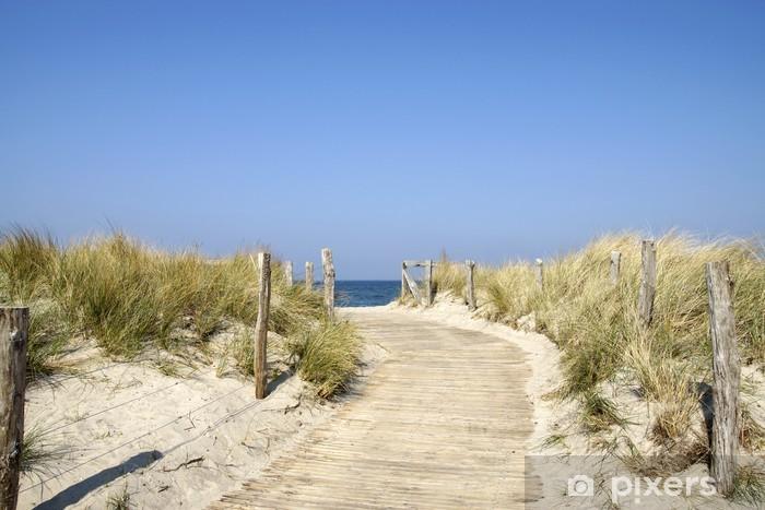 Fototapeta winylowa Heiligenhafen daleko na plaży Bałtyckiego w Morzu Bałtyckim - Wakacje
