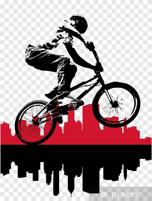 Papier peint vinyle Vecteur d'image de BMX cycliste - Sports individuels