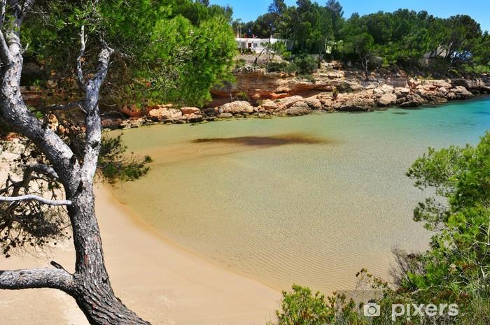 Papier peint vinyle Ametlla plage de Cala Calafato de Mar, Espagne - Europe