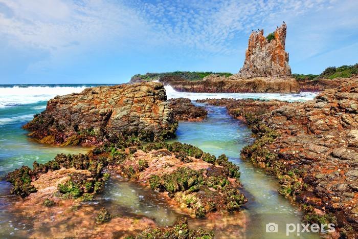 Papier peint vinyle Cathedral Rocks Kiama Downs Australie - Eau