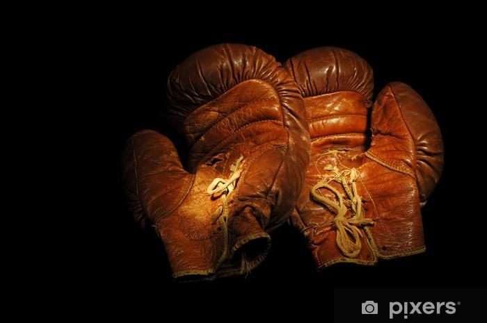 Papier peint vinyle Grande Lumière peint l'image de gants de boxe des années 1930 - Thèmes