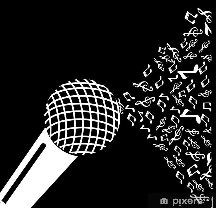 Vinilo Pixerstick Music diseño - Música