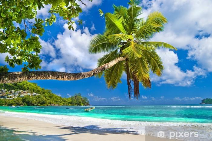 Pixerstick Sticker Idyllisch tropisch landschap - Seychellen - Thema's