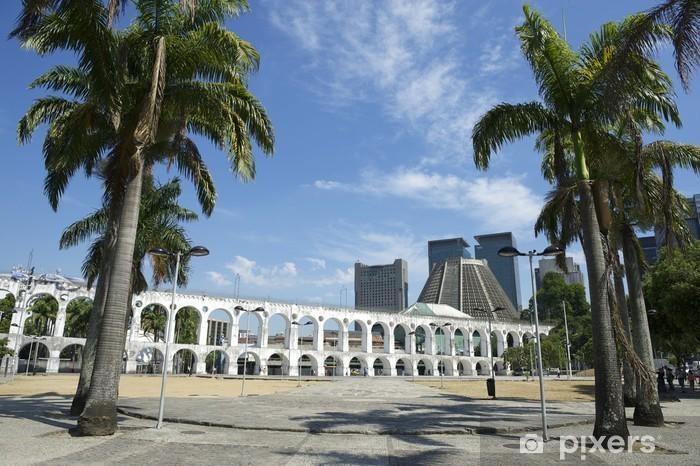 Naklejka Pixerstick Białe łuki w Łuki Lapa w Rio de Janeiro Brazylia Centrum - Miasta amerykańskie