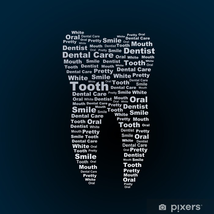 Tooth Pixerstick Sticker - Health and Medicine