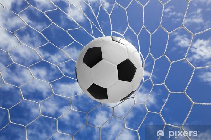 Fototapeta winylowa Piłka w cel netto z nieba - Sporty drużynowe
