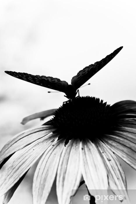 Sticker Pixerstick Papillon sur fleur - Thèmes