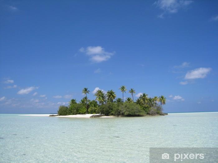 Papier peint vinyle Vue depuis le lagon sur l'ile du soleil levant - Vacances