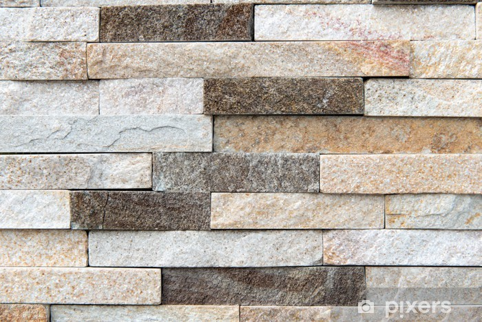Building natural stone cladding Wall Mural - Vinyl