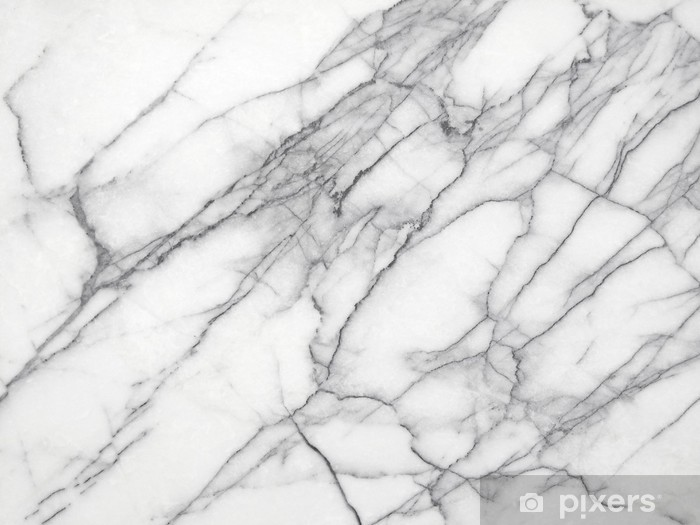 White Marble (High.Res.) Vinyl Wall Mural - iStaging