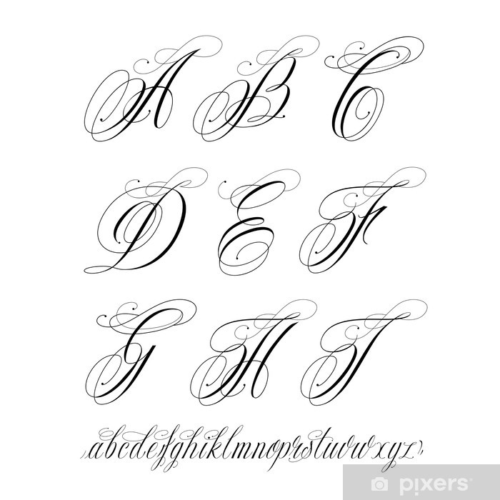 Tattoo Alphabet Poster Pixers We Live To Change Fortunately, we have many unique tattoo font styles for. tattoo alphabet poster pixers we live to change