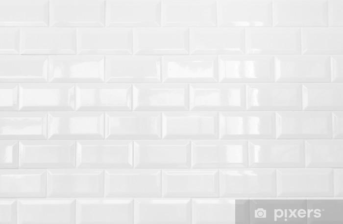 Carta da parati ceramica bianca muro di piastrelle di mattoni di