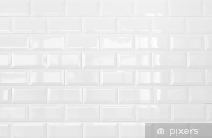 Vinilo Pixerstick Blanco De Cer 225 Mica De Pared De Azulejos