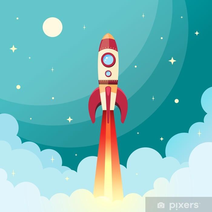 Fotomural Estándar Print cohete espacial - Temas