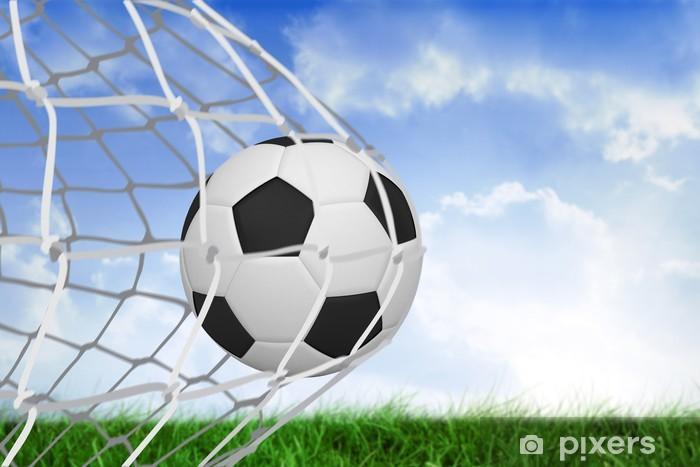 Fototapet Fotboll på baksidan av nätet • Pixers® - Vi lever för ... 7c1a8f999aabf