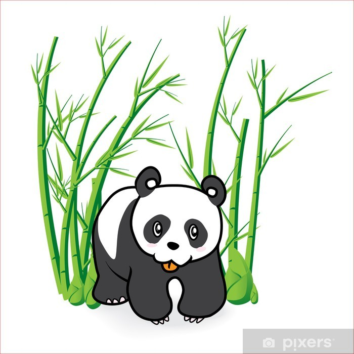 Plakát Panda 04 - Nálepka na stěny