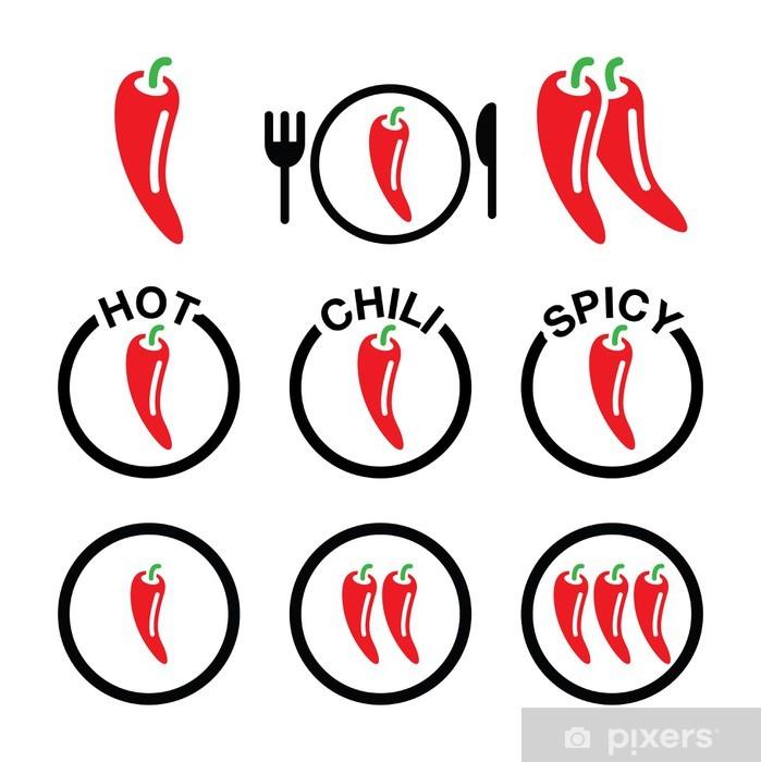 Plakat Ustawić Red Hot Chili Peppers ikony - Znaki i symbole