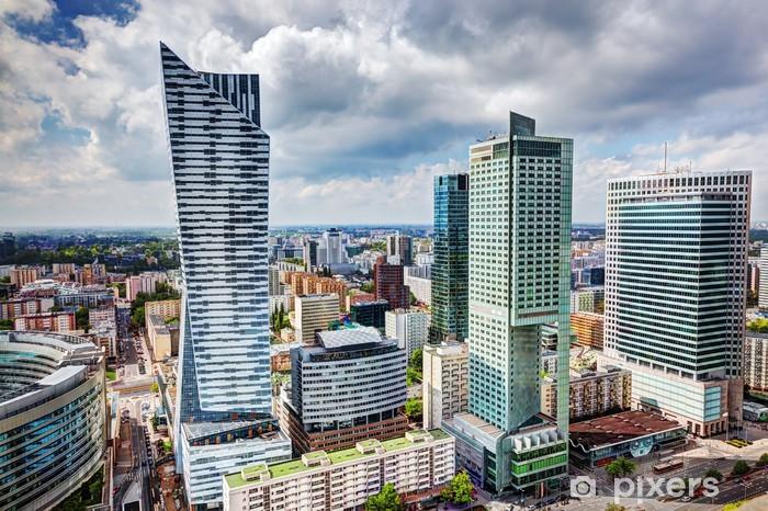 Vinilo Pixerstick Varsovia, Polonia. El centro de rascacielos de negocios, centro de la ciudad - Temas